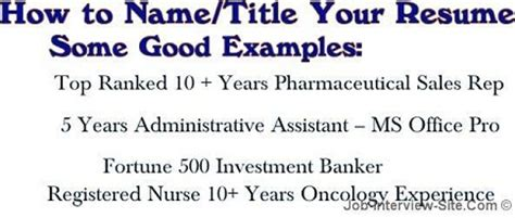 What Is A Resume Name by Resume Name What To Name Your Resume