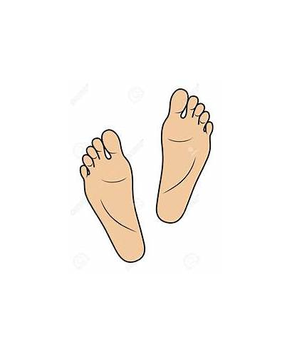 Feet Foot Clipart Soles Cartoon Clip Sole