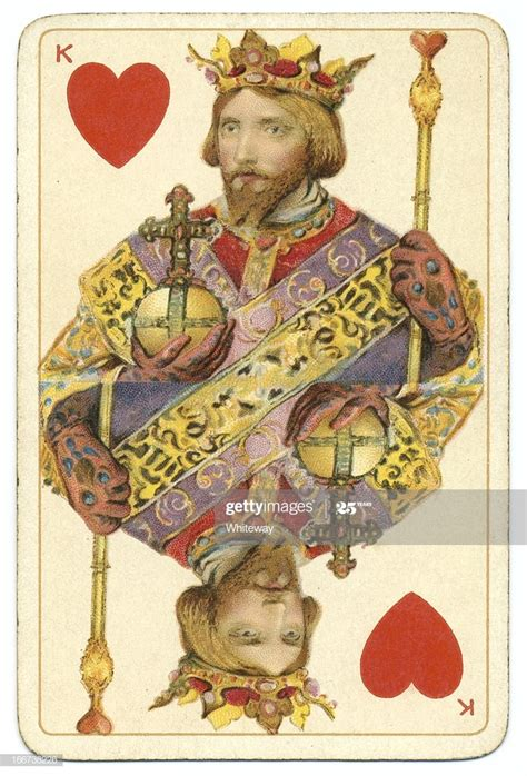 king  hearts dondorf shakespeare antique playing card
