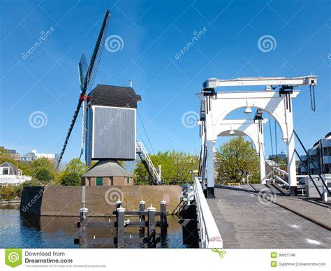 Leiden Inhouse City Windmill Stock Photography
