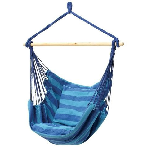 Hanging A Hammock Chair by New Outdoor Hammock Hanging Rope Swing Chair Blue Club