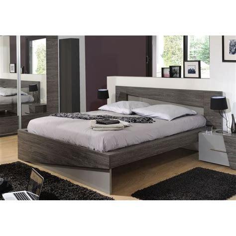 modane lit 160x200 cm bois laqué gris l203 cm aucune