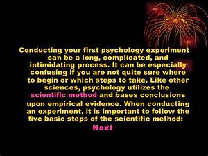 Conduct a psychology experiment