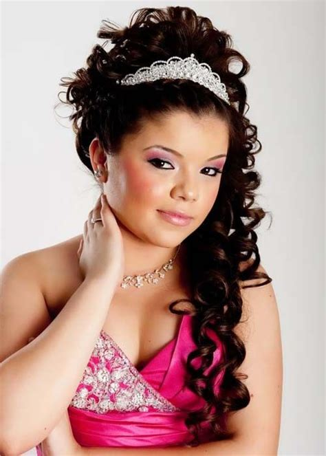 quinceanera hairstyles  young  glamorous