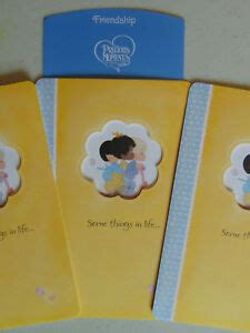 3 Precious Moments FRIENDSHIP Greeting Cards Christian