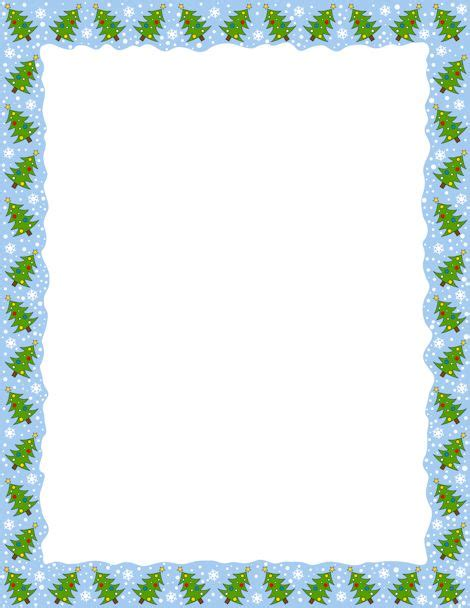 page border featuring christmas trees  downloads