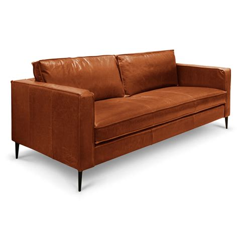 Aged Leather Sofa by Westfield 3 Seater Vintage Aged Bark Leather Sofa