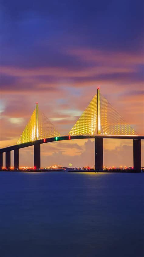 sunshine skyway bridge florida iphone wallpaper iphone wallpapers