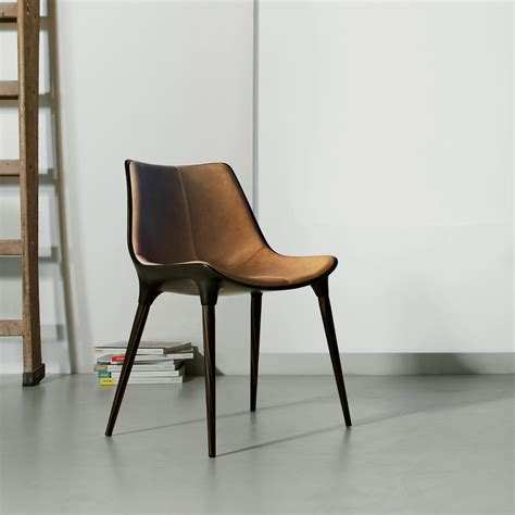 mid century modern chairs langham modern dining chair in leather by modloft l