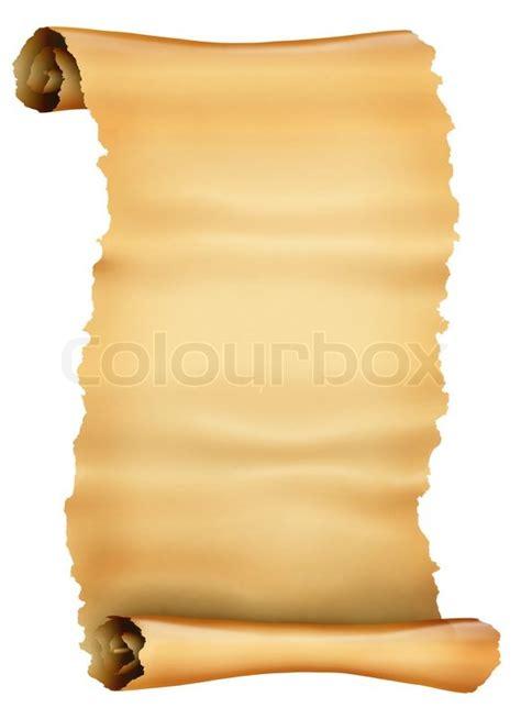 antike schriftrolle pergament stock foto colourbox