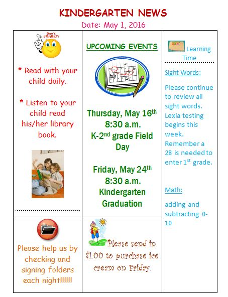 preschool newsletter template free kindergarten newsletter template 3 free newsletters 910