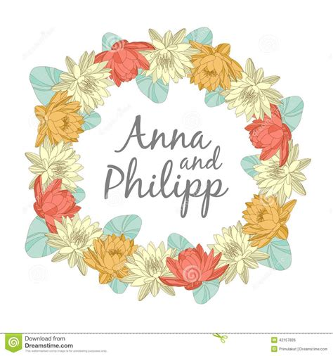 Wedding Invitation Cards With Floral Elements Stock Vector