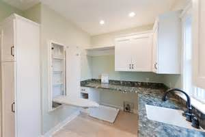 kitchen window coverings ideas ironing board cabinet laundry room contemporary with