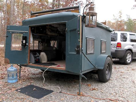 Homemade DIY Camper Trailer Made From Recycled Stuff