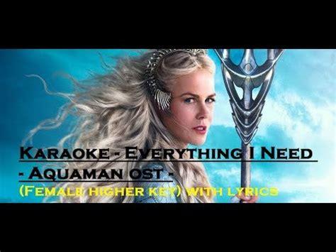 karaoke    aquaman ost female higher