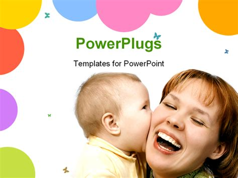 mother  baby powerpoint template background  mother