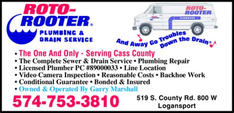 roto rooter plumbing drain services roto rooter plumbing drain sewer service logansport