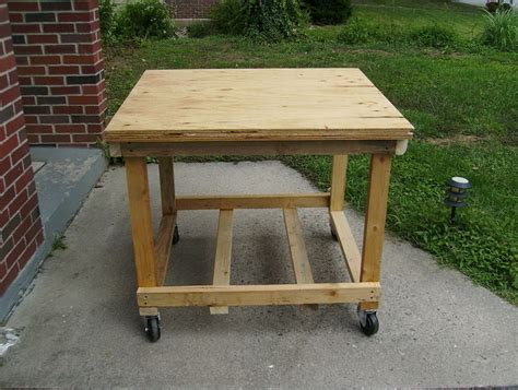 rolling workbench diy home design ideas