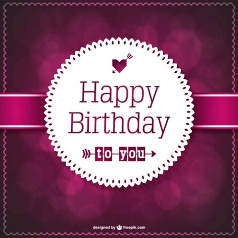 elegant lace birthday card vector