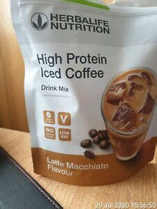 This is such a quick super easy recipe that is prepared in 5 minutes, literally! HERBALIFE High Protein Iced Coffee Latte Macchiato 308g   eBay