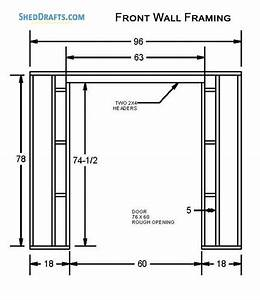4 U00d78 Lean To Shed Building Plans Blueprints To Create