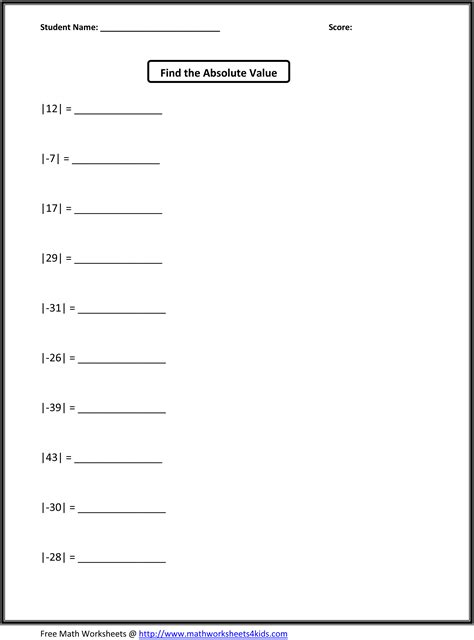 grade math worksheets