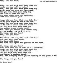 Mary Did You Know Lyrics