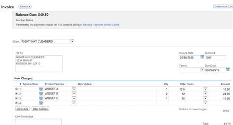 invoice template quickbooks  apcc