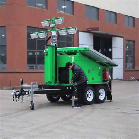 green power mobile surveillance trailer  cctv system