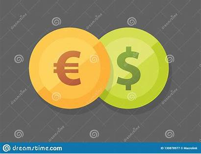 Euro Vs Dollar Icon Currency Pair Dark