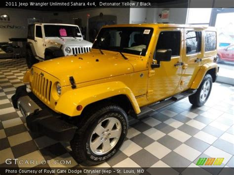 yellow jeep interior detonator yellow 2011 jeep wrangler unlimited sahara 4x4
