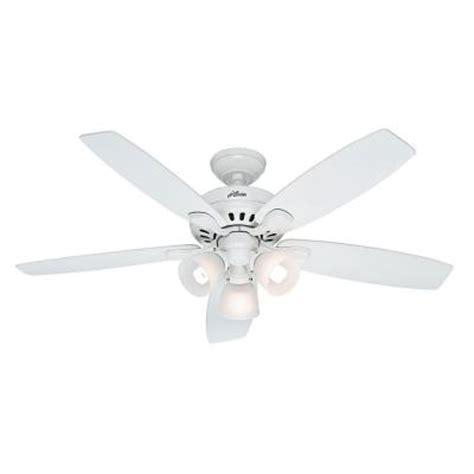 hunter highbury 52 in indoor white ceiling fan 52007