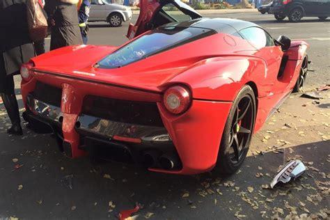 laferrari crash second laferrari crash due to loss of control