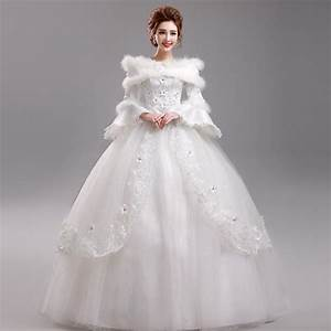 aliexpresscom buy winter princess long sleeve lace With puff sleeve wedding dress