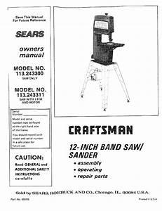 Craftsman 12 Band Saw Parts