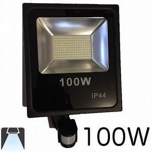 Projecteur Led Detecteur : projecteur led plat 100w avec d tecteur de mouvements ~ Carolinahurricanesstore.com Idées de Décoration