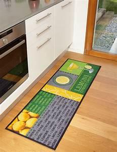 tapis de cuisine lemons moderne et de qualite With tapis de sol cuisine moderne