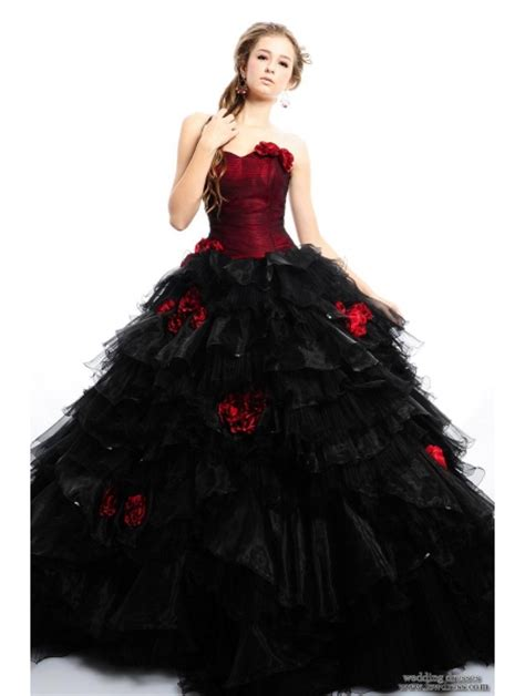 gothic wedding dresses red and black pop alternative dresses gothic inspiration on your
