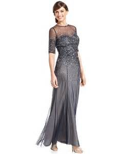 nordstrom engagement rings papell dress sleeve sequined beaded gown dresses macy 39 s