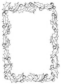 Black and White Christmas Border Clip Art