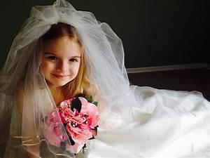 free photo wedding dress child girl free image on With young girls wedding dresses