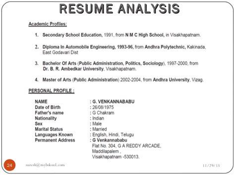 Free Resume Analysis by Resume Analysis Live 29 11 13 Mini Mba Free