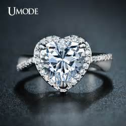 sterling diamond china aliexpress buy umode classic halo engagement rings