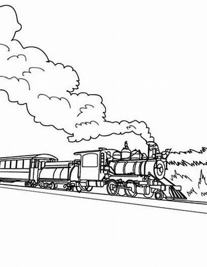 Steam Train Coloring Railroad Pages Trains Colorluna