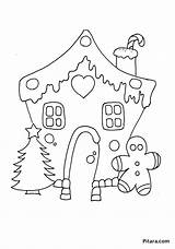Coloring Christmas Decorations Pages Gingerbread Pitara Outline Fargelegging Juletre Clipart Craft sketch template