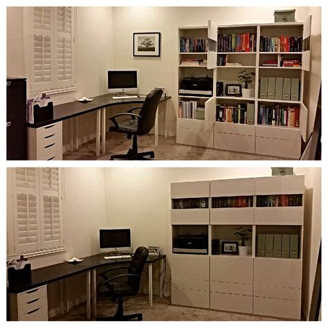 besta office home office ikea table and besta unit i the pop of