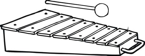 Coloring Xylophone by Xylophone Coloring Pages Mapiraj For Preschool Free