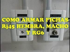 Como Armar Fichas Rj45 Hembra  Macho Y Rg6 F U00e1cil