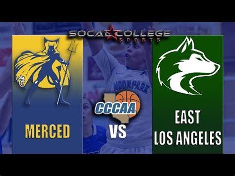 cccaa womens basketball quarterfinals merced  elac