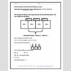 Interquartile Range Worksheets